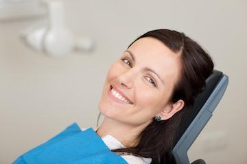 Woman in dental chair | CEREC crowns fontana ca