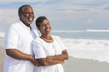 Couple smiling | Fontana CA Dentures