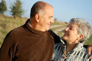Older couple smiling | Dentures in Fontana CA