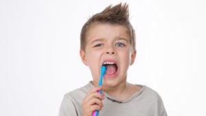Family Dentist in Fontana | Child Brushing Teeth